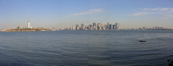 View of southern tip of Manhattan from Liberty Island - New York City (Nov 2004)