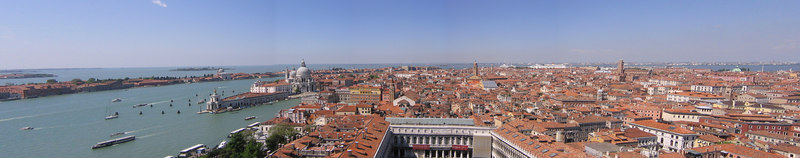 View of Venice taken from top of St Marks Tower - Venice Italy (May 2005)