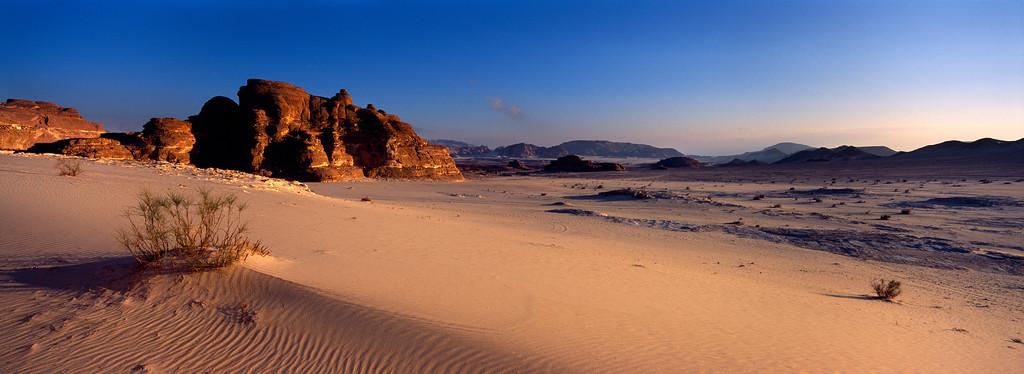 Sinai desert at dawn