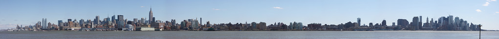 This panoramic of NYC was taken from Hoboken, NJ. It consist of 53 high definition photographs and spans from uptown all the way to downtown.