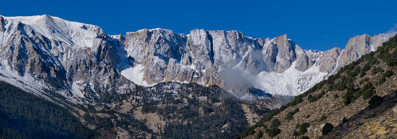 Snow-capped mountains in the Eastern Sierra, California