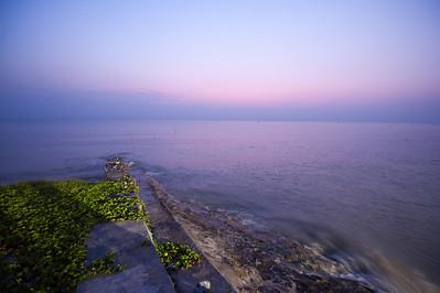 Pantai Cermin, Sumut foto dibuat sebelum matahari terbit