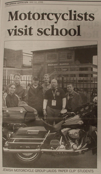 Eight riders from Brookline,MA, made the trip to Whitwell, TN.  This Jewish Advocate photo cropped-out Victor Darish.