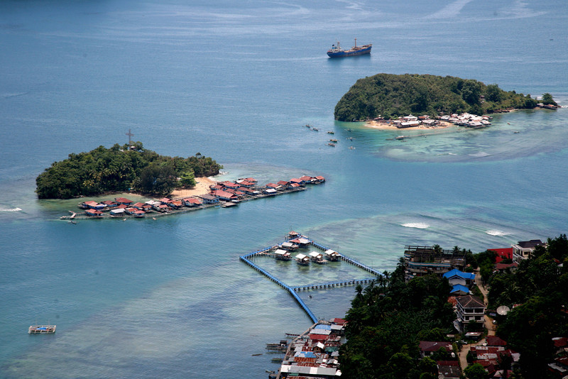 Fishing villages off Jayapura, West Papua.