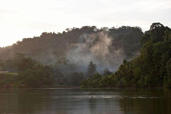 The Karawari river at dawn