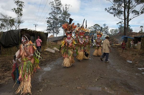 Procession to the arena entrance