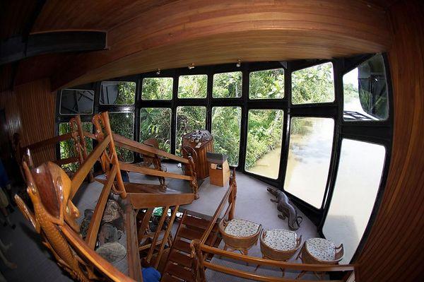 View of the inside of the Sepik Spirit.