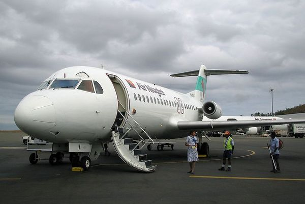 Air Niugini flight from Port Moresby to Mt. Hagen