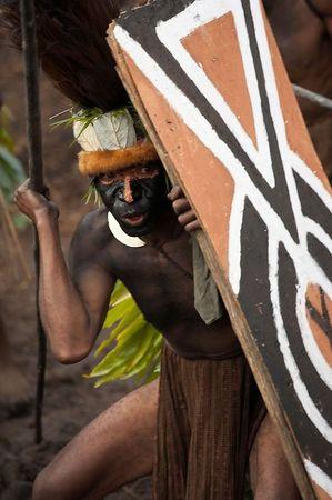 Tribal fighting display