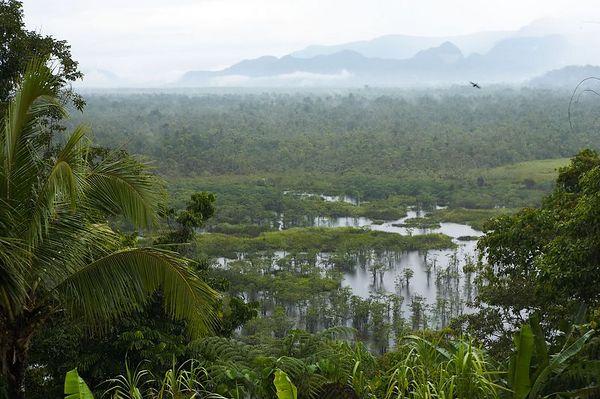View of the beautiful Karawari landscape