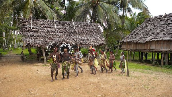 Konmei Villagers perform in a victory sing sing, popular in 3 of the local villages