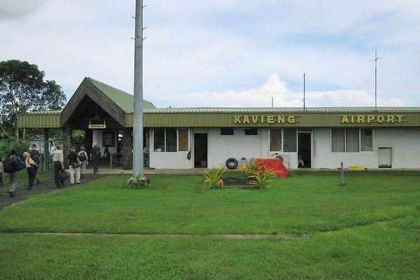 The Kavieng international airport