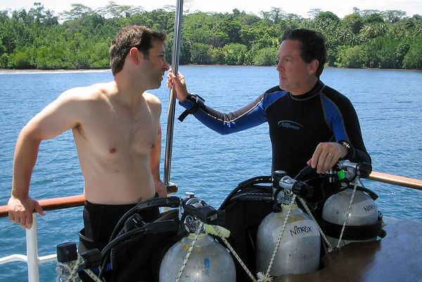 Dave and Doug, on the dive deck