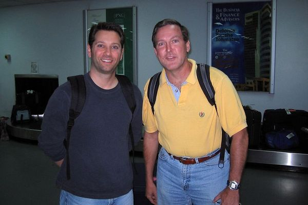 Dave Patchen and Doug Ebersole at the Port Moresby airport