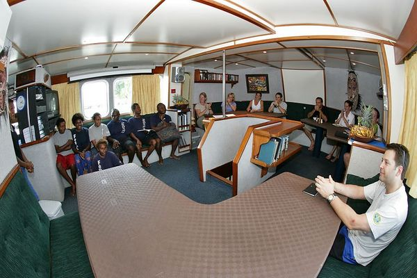The first briefing aboard the Febrina
