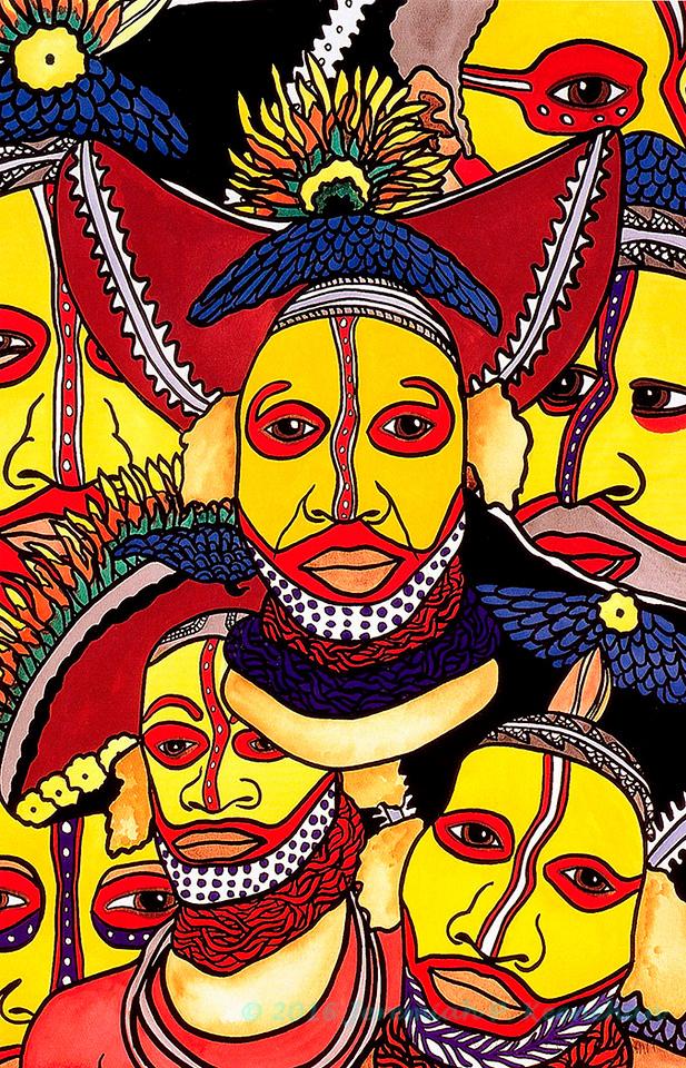 Huli Warrior Tribe