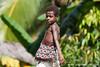 Papua New Guinea. East Sepik. Kaminibit II village: Village girl