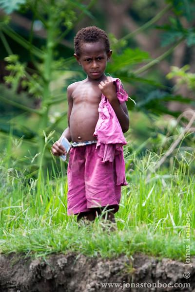 Papua New Guinea. East Sepik. Kaminibit I village: Village girl