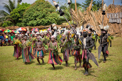 Young tribe performing their dances at the Crocodile Festival