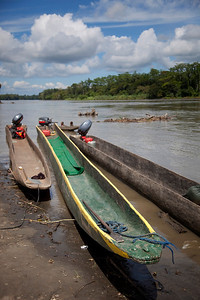 Our canoe for 3 days cruising on the Sepik River
