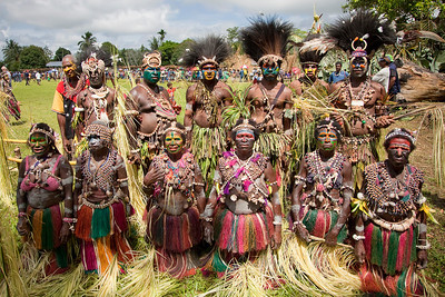 Middle Sepik River tribe at Crocodile Festival