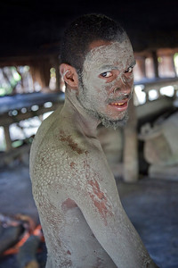 During initiation into manhood, they cut the skin to resemble the scales of a crocodile that lasts forever as scars