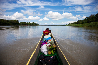 Cruising the Sepik River