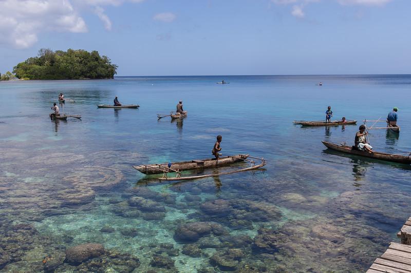 Tawali resort local fishermen