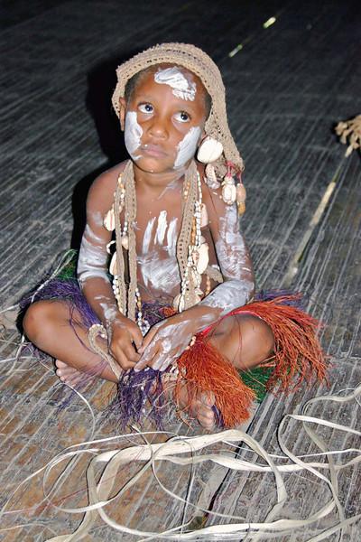 Child in village on Sepik river