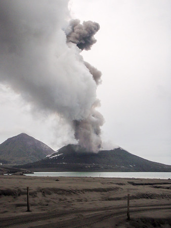 Mount Tarvuvur, an active volcano in Rabaul, East New Britain