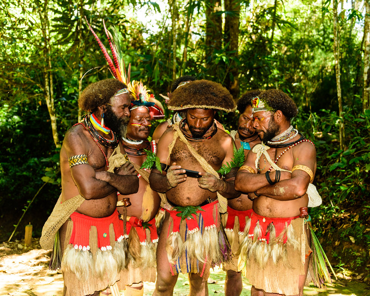 The Huli wigmen - One of the traditions of the Huli who are the indigenous people living in the Southern Highlands districts of Tari, Koroba, Margaraima and Komo, of Papua New Guinea, is to grow their hairs to make a wig. Men would enroll and paid a fee to start the school for 18 months. During this time, they cannot wash or clean their hairs. When they go to bed, they have to elevate their heads in such a way that the hairs cannot touch the bed. I cannot imagine how they manage not to wash their hairs in 18 month!