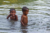 Children playing in the river at Warironi Village, Papua, Indonesia, October 2015. [Papua Warironi 2015-10 18 YapenIs-Indonesia]