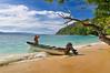 Freshwater Pool Beach, or Inner Beach, at Depapre, just north west of Sentani, a favorite picnic and snorkeling beach, Papua, December 2008. [Papua Depapre 2008-12 007 Indonesia]
