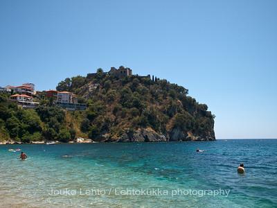 Parga 198: Valtos beach: Venetian castle