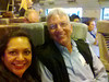 Susie's cellphone picture. On the Eurostar High-Speed train from London to Paris, 04 June 2013.