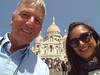 """Cellphone pic, Ed & Susie in front of """"The Sacred-Heart Basilica of Montmarte"""".  Paris. 04 June 2013.<br /> <br /> <a href=""""http://ezinearticles.com/?Paris-Montmartre-The-Sacre-Coeur-Basilica&id=7408193"""">http://ezinearticles.com/?Paris-Montmartre-The-Sacre-Coeur-Basilica&id=7408193</a>"""