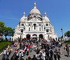 """The Sacred-Heart Basilica of Montmarte"".  Paris. 04 June 2013.<br /> <br /> <a href=""http://ezinearticles.com/?Paris-Montmartre-The-Sacre-Coeur-Basilica&id=7408193"">http://ezinearticles.com/?Paris-Montmartre-The-Sacre-Coeur-Basilica&id=7408193</a>"