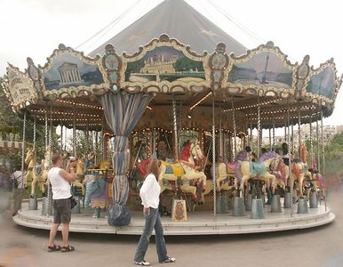 Merry go round near Eiffel Tower