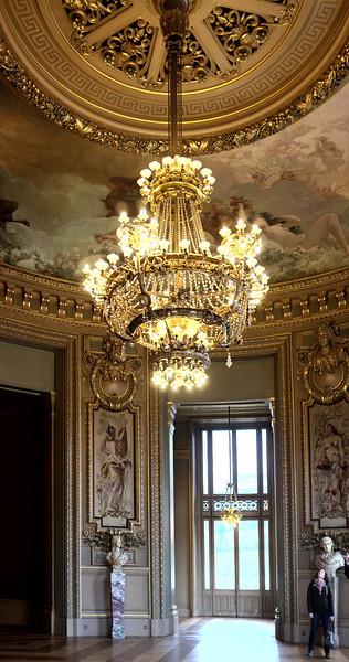 A beautiful chandelier