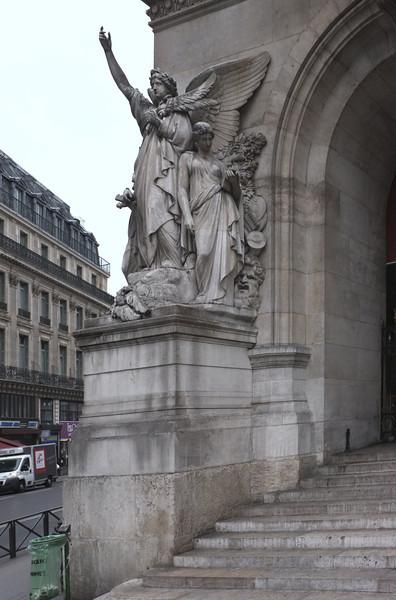 Outside the Paris Opera
