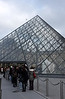 One of the few times I've seen a very short line at the Louvre.