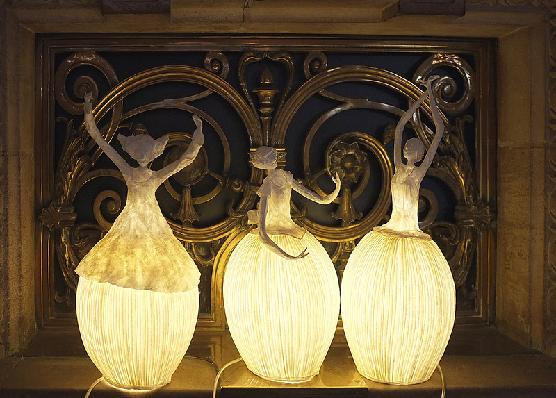 Delight lamps at the Palais Garnier - the original Paris Opera