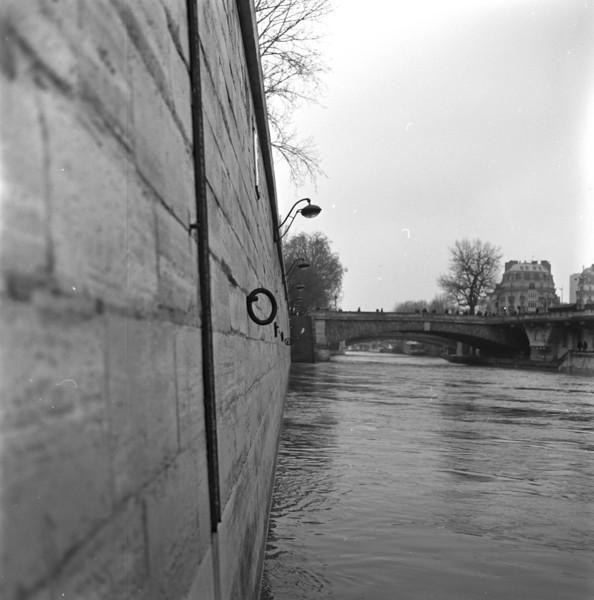 Seine scene with nautical tie rings