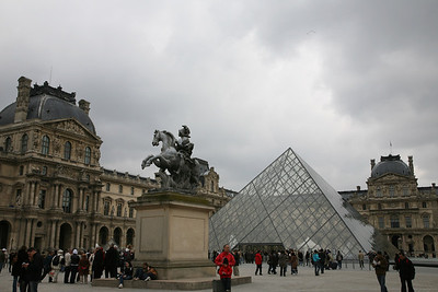 Louvre Museam  Opened in 1793, Louvre is one of the world largest and most visited Museam. This is the entrance area including the pyramid which was designed by I.M. Pei and completed in 1989.