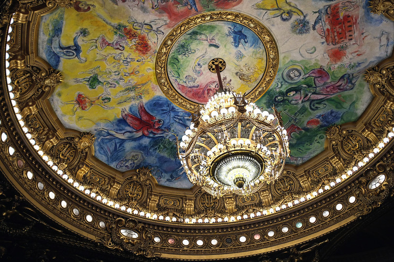 The chandelier at the Paris Opera