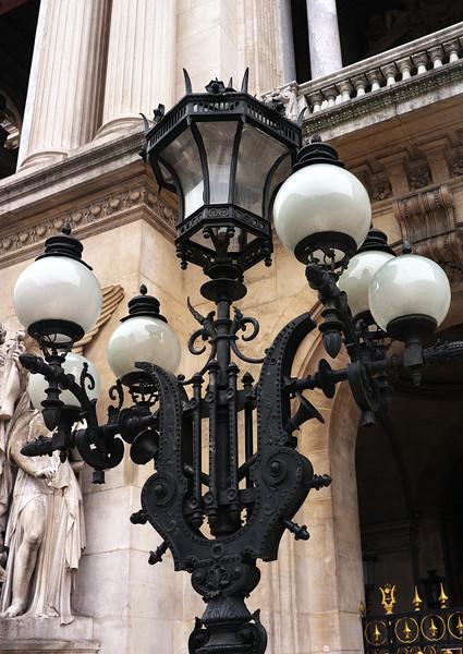 Lamp post outside Palais Garnier - the original Paris Opera House