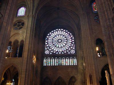 west rose window at Cathédrale de Notre-Dame