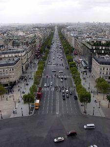 View of Champs-Elysees from Arc de Triomphe