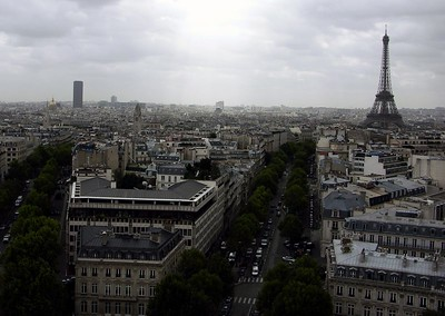 View of Eiffel Tower from Arc de Triomphe