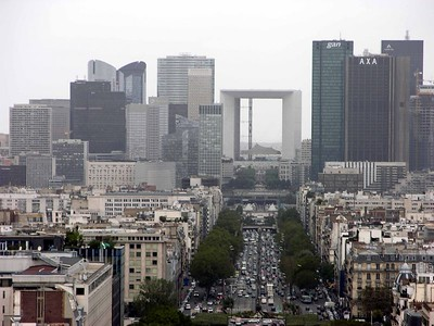 View of La Defense from Arc de Triomphe